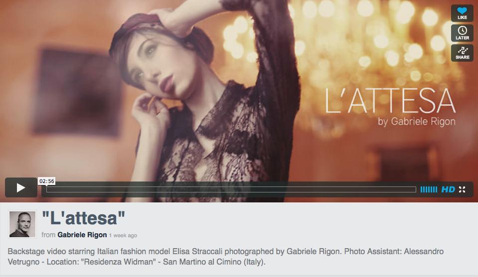 Shooting con Elisa Straccali - Fotografo Gabriele Rigon e Alessandro Vetrugno